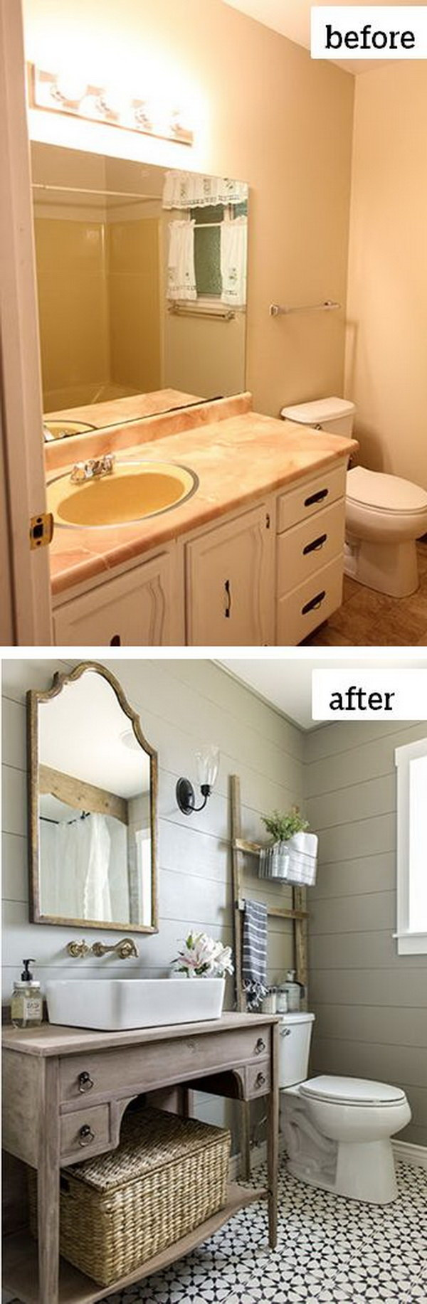 49 Most Beautiful Before and After Bathroom Makeovers