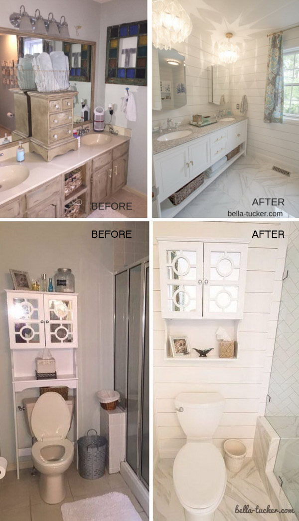 Before and after makeovers 23 most beautiful bathroom for Remodeling your bathroom on a budget