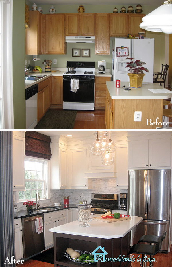 32 Pretty Before And After Kitchen Makeovers
