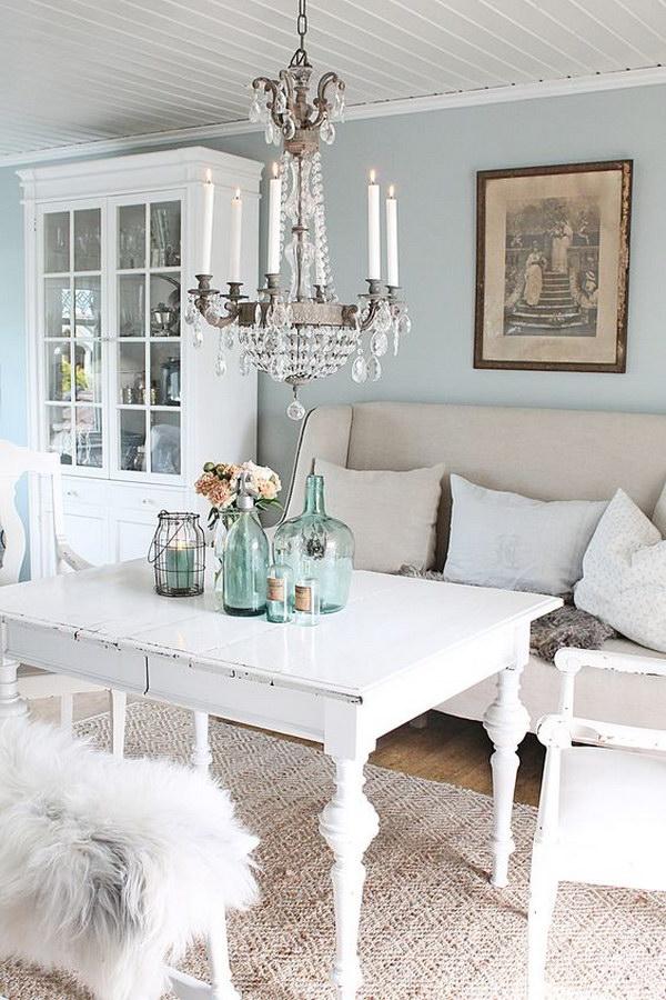 54 Romantic Shabby Chic Living Room Ideas