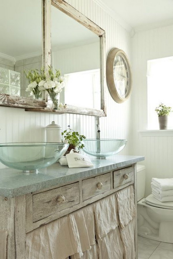 56 Amazing Shabby Chic Bathroom Ideas – Page 12 – Tiger Feng