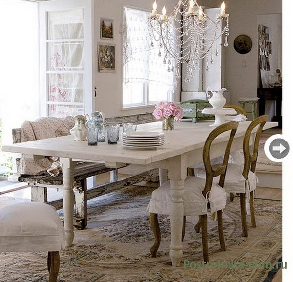 52 Shabby Chic Dining Room Ideas: Awesome Tables, Chairs And Chandeliers For Your Inspiration