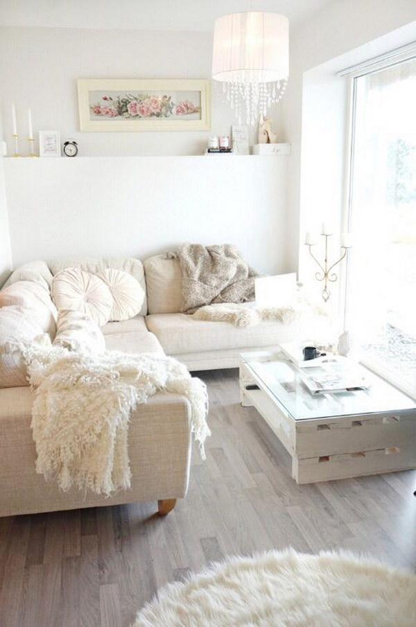54 Romantic Shabby Chic Living Room Ideas