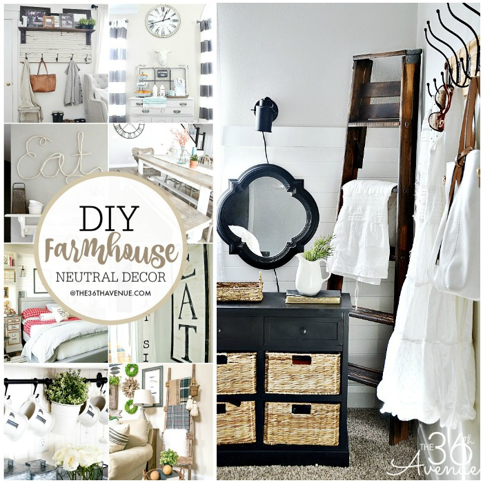 15 FARMHOUSE DIY HOME DECOR IDEAS