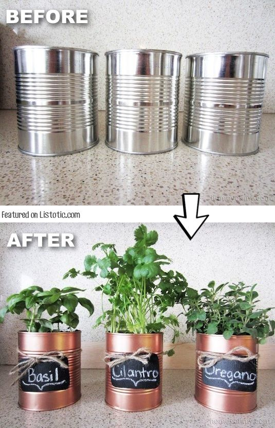Cool Spray Paint Ideas Part - 20: Donu0027t Throw Away Those Tins Cans, Spray Paint Them And Use Them As