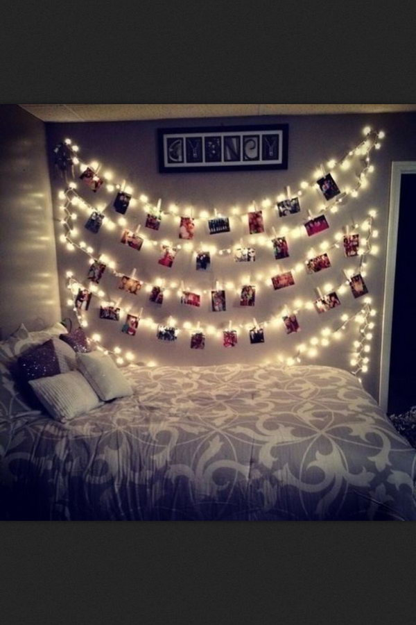 35 Cool Ideas and Tutorials to Decorate Your Home With String Lights
