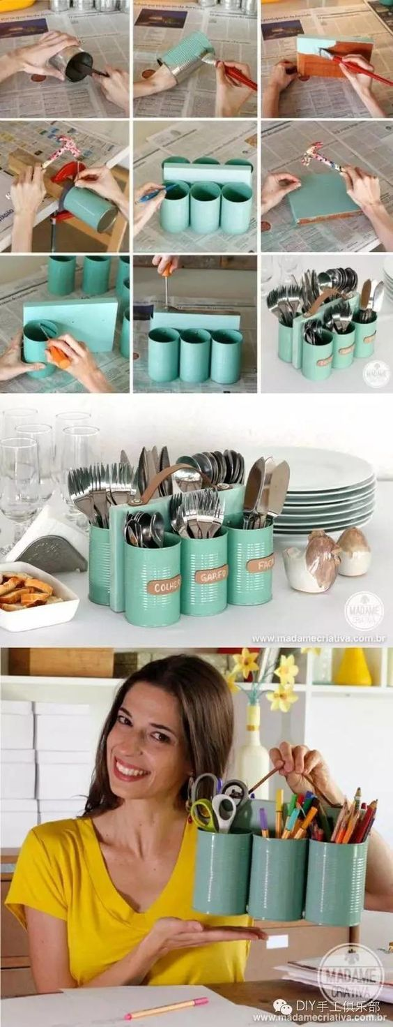 20 Awesome Ideas & Tutorials for Upcycling Tin Cans