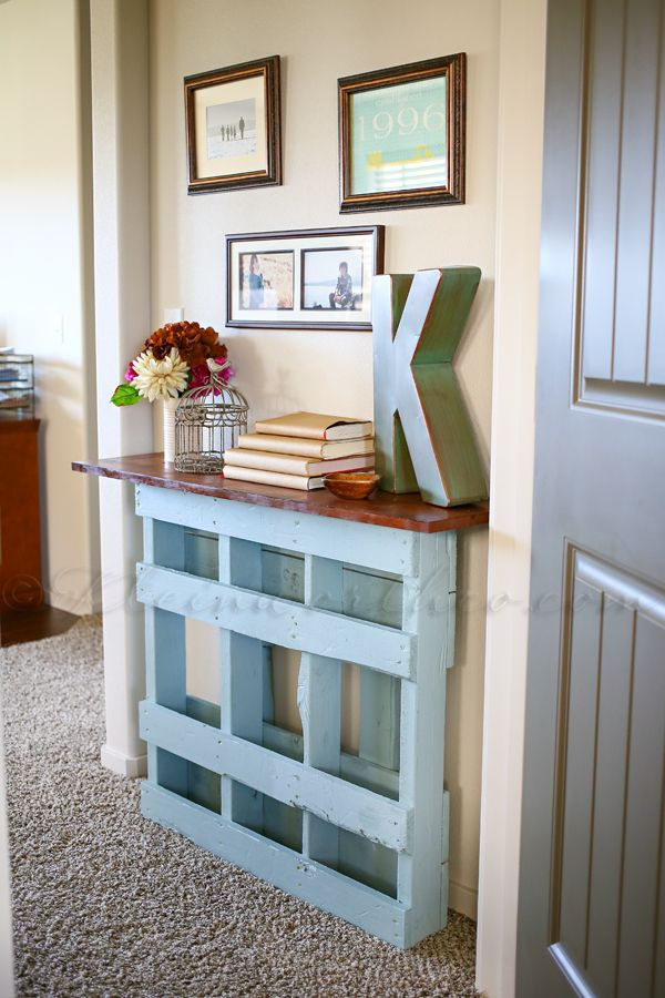 Finest beautiful pallet console table for not so wide entry with diy palette