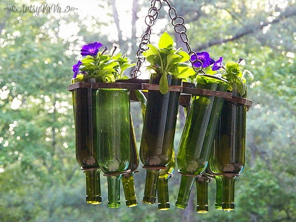 14 Amazing Ideas For Using Wine Bottles In The Garden
