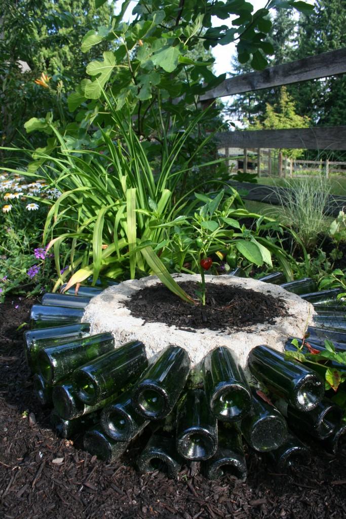 14 Amazing Ideas For Using Wine Bottles In The Garden