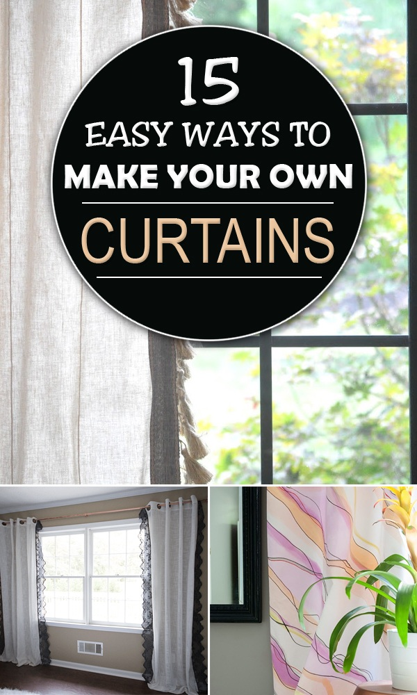 15 Easy Ways to Make Your Own Curtains