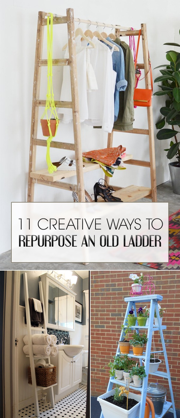 11 Creative Ways To Repurpose An Old Ladder