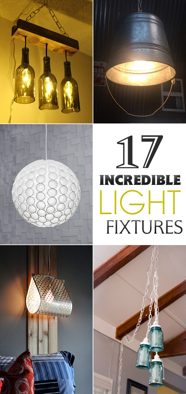 17 Incredible Light Fixtures You Can Create From Everyday Objects