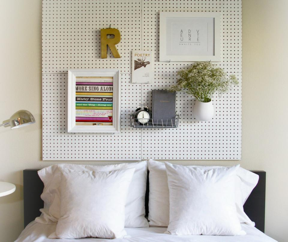 12 Pegboard Storage Wall for Craft Rooms, Offices or Garages