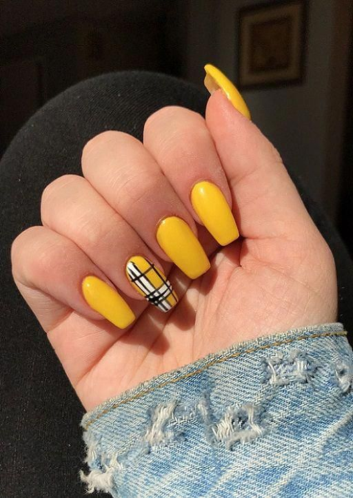 60 Stunning Yellow Nail Designs for 2019