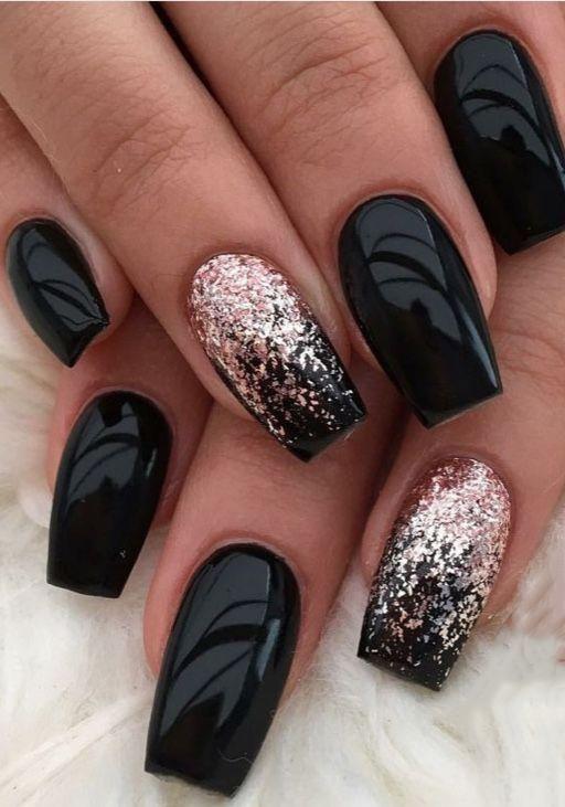 40 Pretty Matte Black Nails to Inspire You