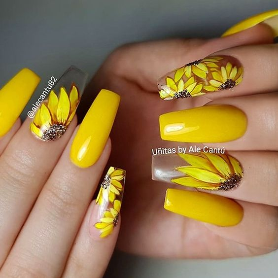 60 Stunning Yellow Nail Designs for 2020