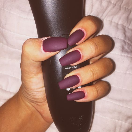 32 Cool Matte Nail Design Ideas You Will Love