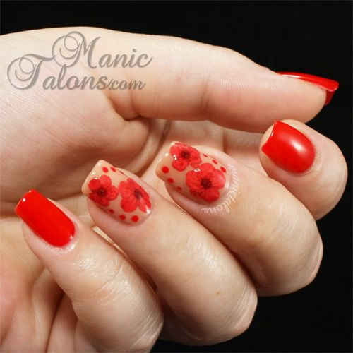 54 Pretty Dried Flower Nail Art Designs