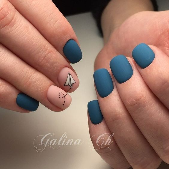 46 Elegant Matte Short Nails Design Ideas