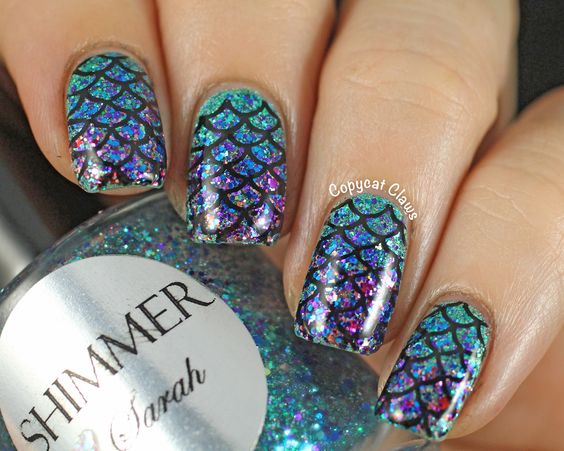 32 Popular Mermaid Nail Designs For You To Try