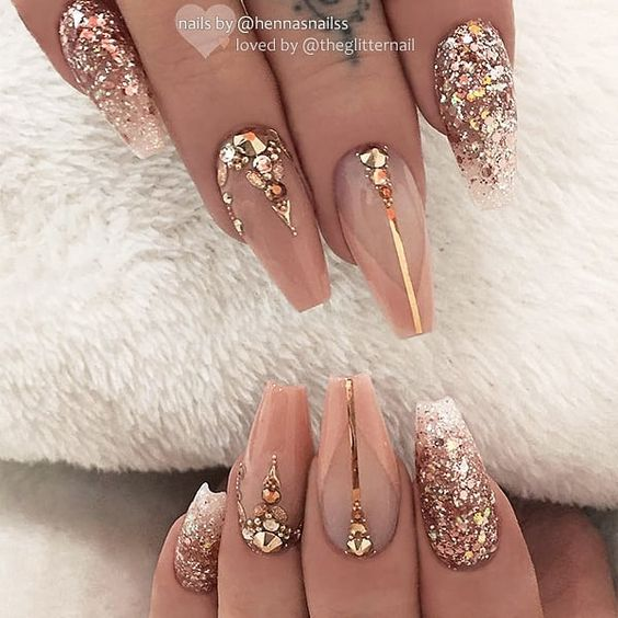 56 Stylish Acrylic Coffin Nail Designs And Colors For Spring