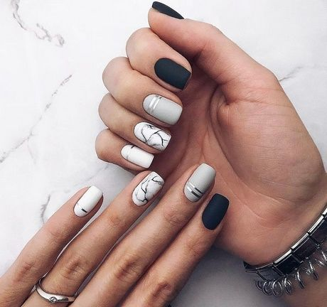 46 Elegant Matte Short Nails Design Ideas
