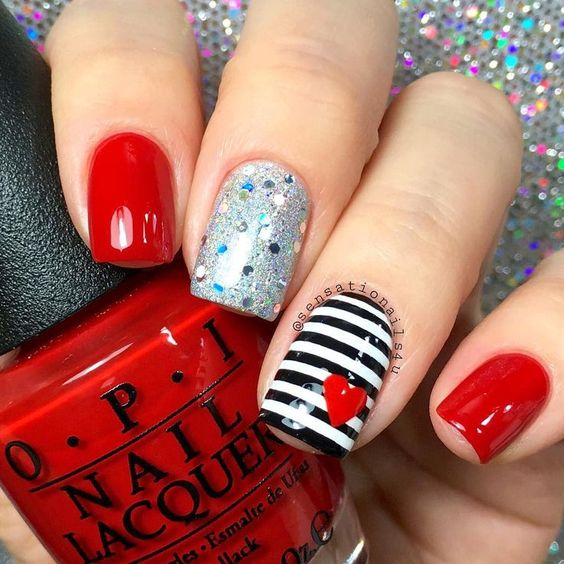 80 Gorgeous Valentine's Nails Designs