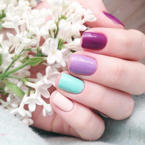30 Stunning Multicolor Nail Art Designs