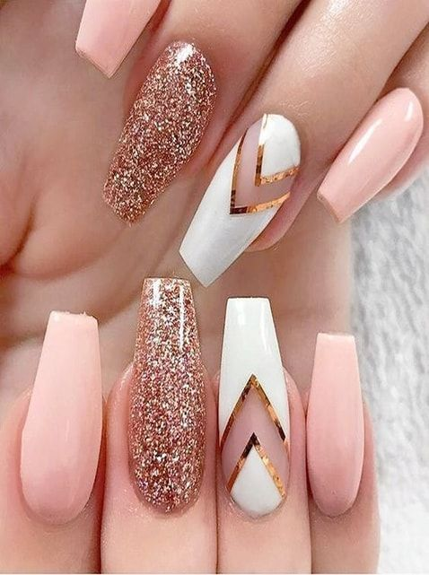 43 Pretty Nail Acrylic Art Designs and Ideas; Acrylic Nails; Long Nails; Trendy Acrylic Nails; Coffin Acrylic Nail #acrylicnails