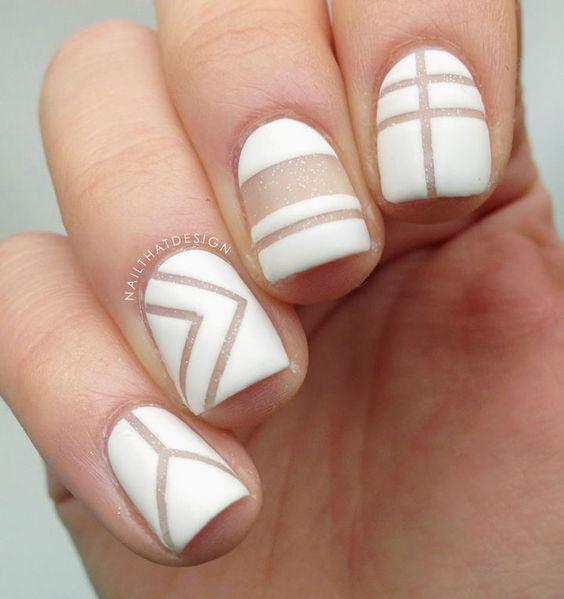 42 Elegant Negative Space Nail Art Designs and Ideas