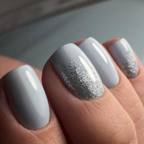 53 Elegant Grey Nails Art Designs and Ideas