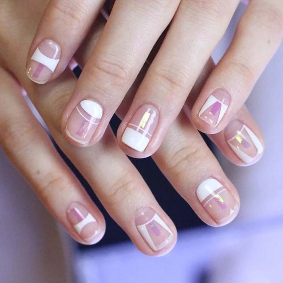 42 Elegant Negative Space Nail Art Designs and Ideas