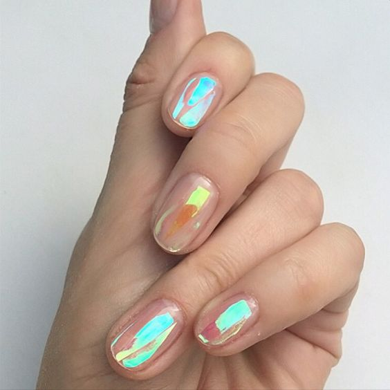 49 Trendy Holographic Nails Designs and Ideas