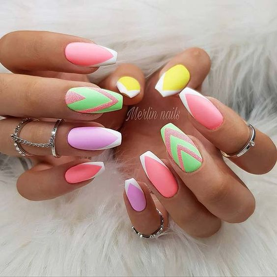 88 Trendy Neon Nail Art Designs and Ideas