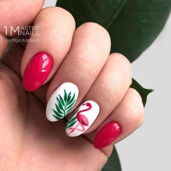 46 Pretty Flamingo Nail Art Design Ideas