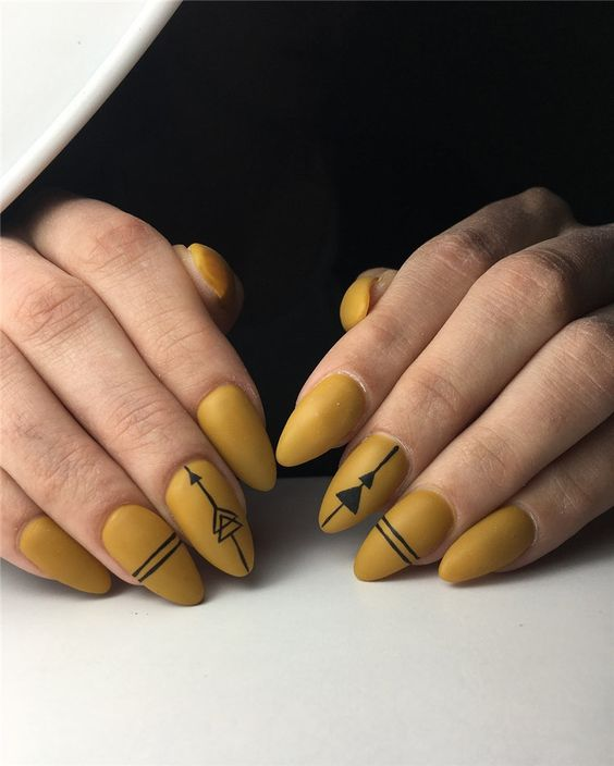 65 Gorgeous Almond Matte Nail Designs You'll Love