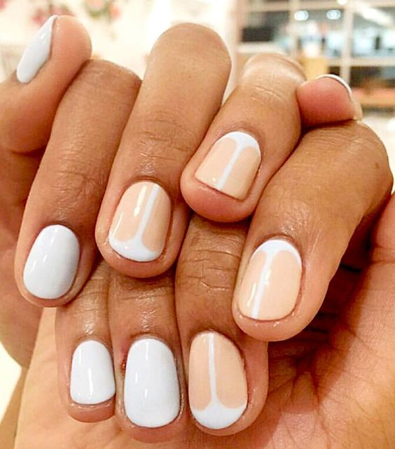 54 Stunning Two Tone Nails Designs You Would Love To Try