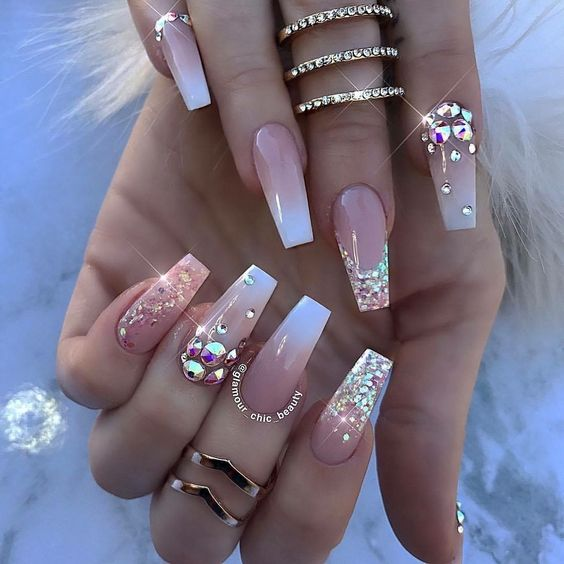 66 Eye-Catching Bridal Nail Designs for The Big Day – Page 64 ...