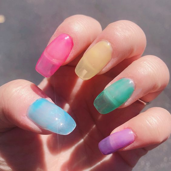 70 Stylish Jelly Nail Designs You Have to Try This Summer