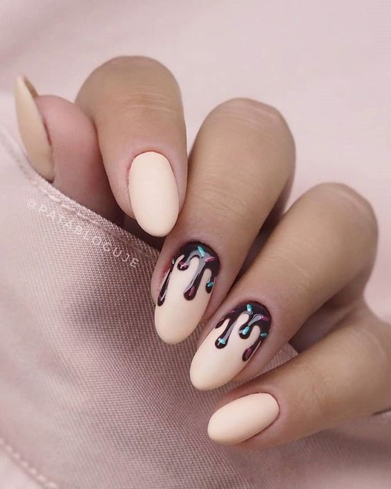 65 Gorgeous Almond Matte Nail Designs You'll Love