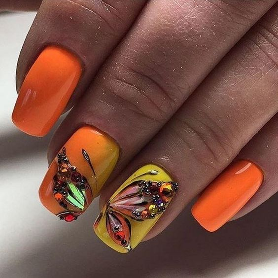 97 Pretty Butterfly Nail Art Designs for Summer