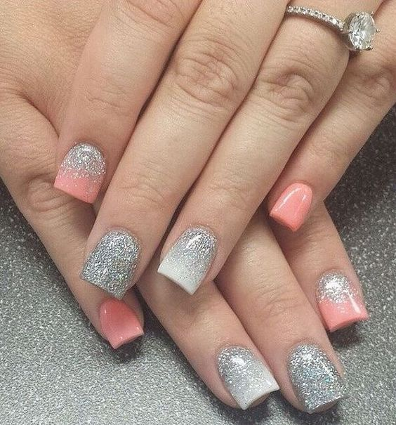 30 Trendy Glitter Square Nail Designs to Inspire You