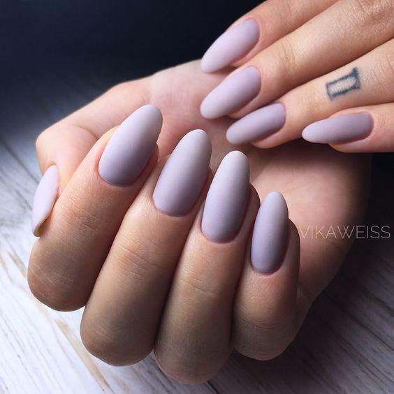 31 Stylish Oval Matte Nail Art Designs
