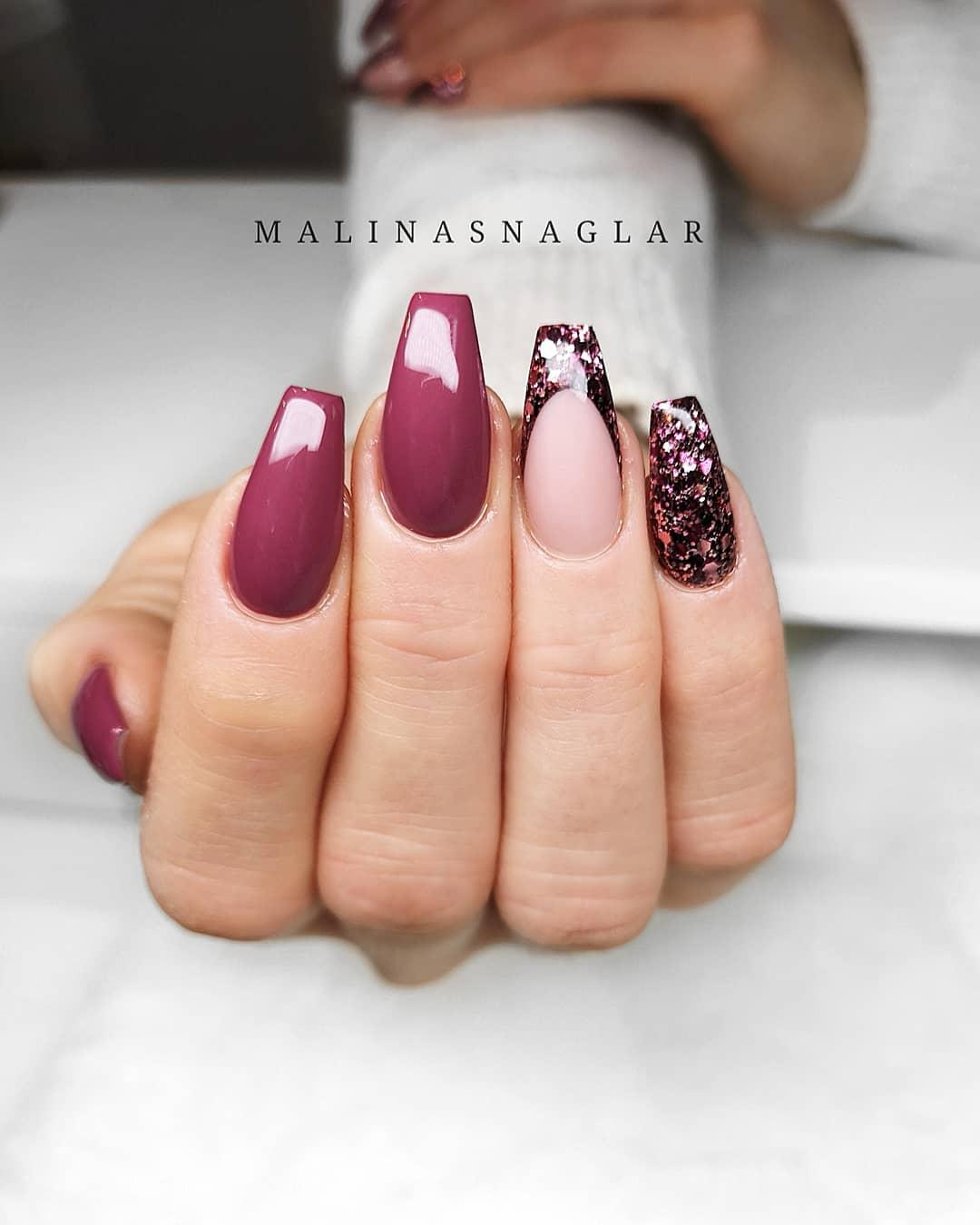 52 Gorgeous Coffin French Tip Nail Designs