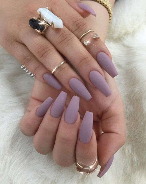 55 Impressive Matte Coffin Nail Art Designs