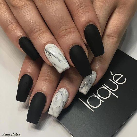 31 Stylish Marble Square Nail Designs