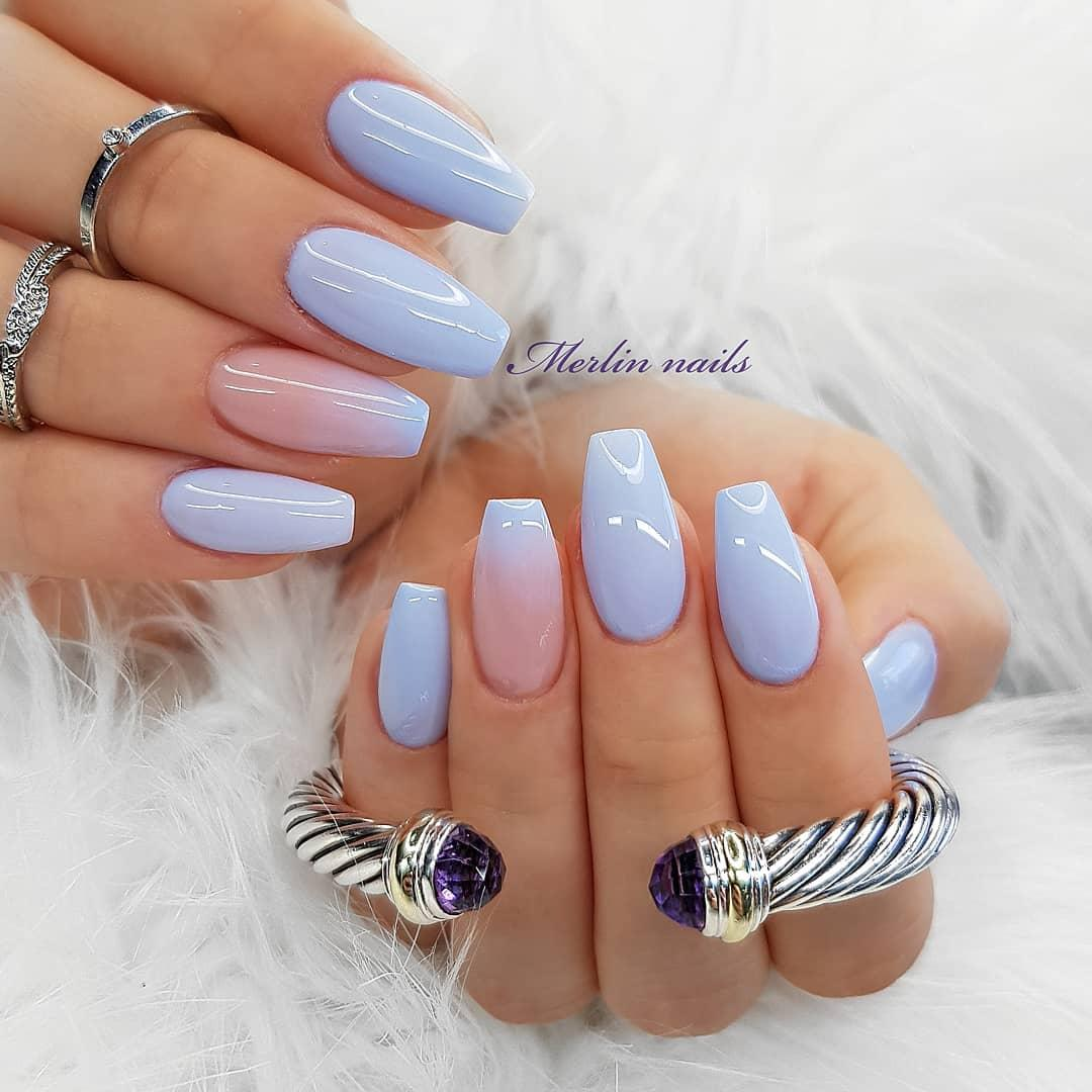 66 Gorgeous Ombre Coffin Nail Designs