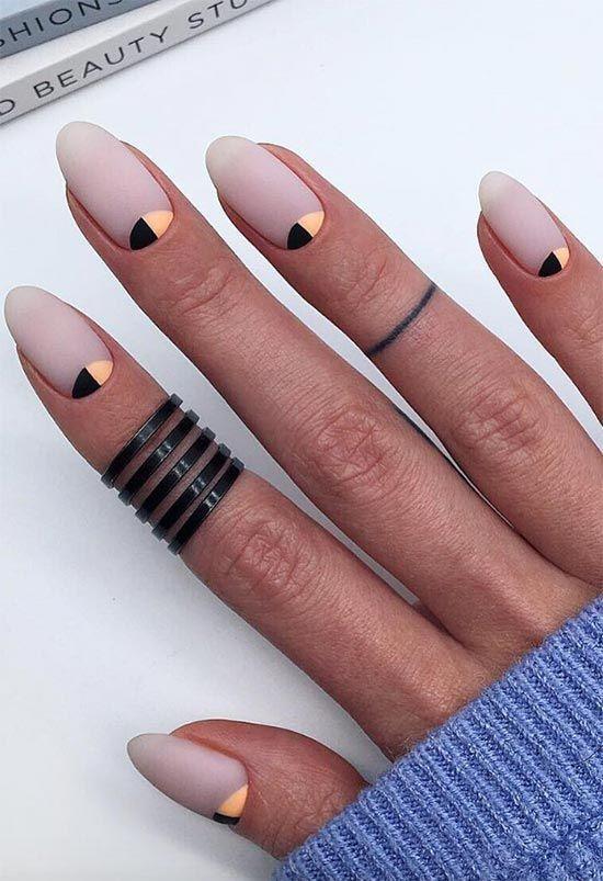 44 Stylish Oval Matte Nail Art Designs