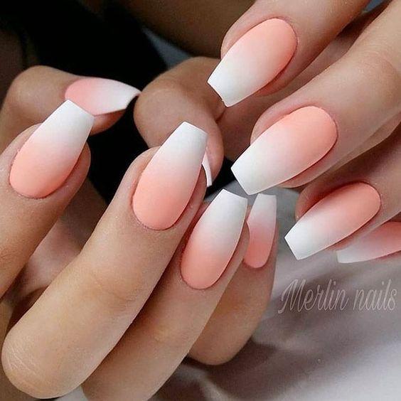 30 Stylish Peach Acrylic Nail Art Designs